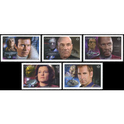 Canada stamp 2986i 2990i star trek year 2 captains 2017