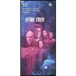 canada stamp complete booklets bk bk667 star trek year 2 captains 2017