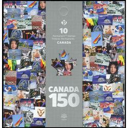 canada stamp complete booklets bk bk671 canada 150 2017