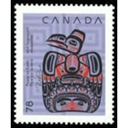 canada stamp 1296 children of the raven 78 1990