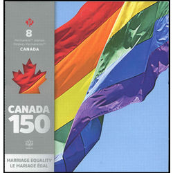 canada stamp complete booklets bk bk673 2005 marriage equality 2017
