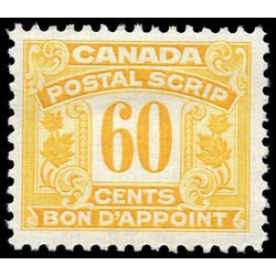 canada revenue stamp fps18 postal note scrip first issue 60 1932