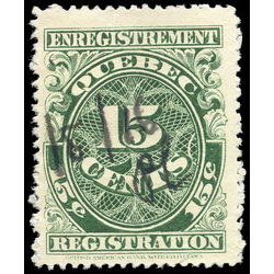 canada revenue stamp qr18 registration 15 1912