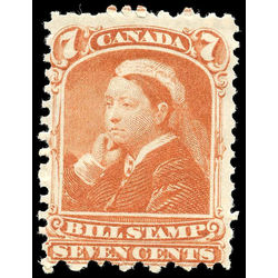 canada revenue stamp fb44 third bill issue 7 1868