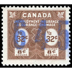 canada revenue stamp fu39 unemployment insurance stamps 32 1955