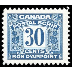 canada revenue stamp fps34 postal scrip second issue 30 1967