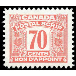 canada revenue stamp fps38 postal scrip second issue 70 1967