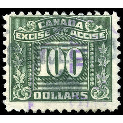 canada revenue stamp fx94 three leaf excise tax 100 1934