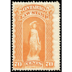 canada revenue stamp ol54 law stamps 70 1870