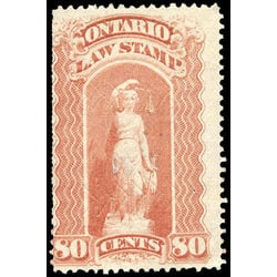 canada revenue stamp ol55 law stamps 80 1870