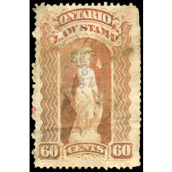 canada revenue stamp ol53 law stamps 60 1870