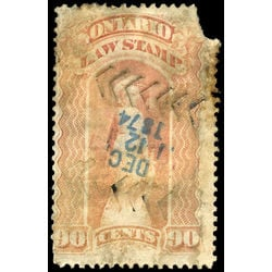 canada revenue stamp ol56 law stamps 90 1870