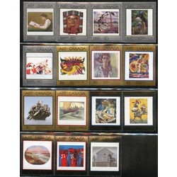 canada stamp 1203 1945 masterpieces of canadian art complete set 1988