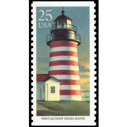 Us stamp postage issues 2472 lighthouse west quoddy head me 25 1990