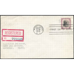 Us stamp postage issues 832 woodrow wilson 1 0 1938 fdc 001