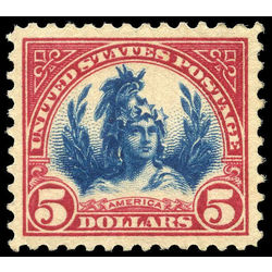 Us stamp postage issues 573a head of freedom statue 5 1923