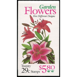 Us stamp postage issues bk215 garden flowers 1994