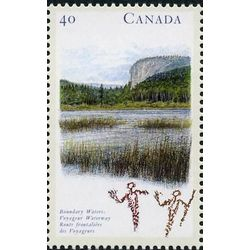 canada stamp 1323 boundary waters voyageur waterway on 40 1991