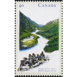 canada stamp 1324 jacques cartier river qc 40 1991