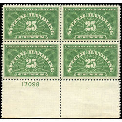 us stamp qe special handling qe4a special handling 25 1925 PB 001