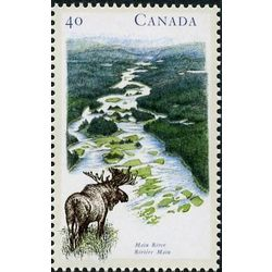canada stamp 1325 main river nl 40 1991