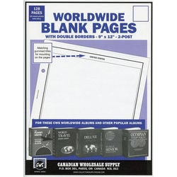 blank pages for stamp albums