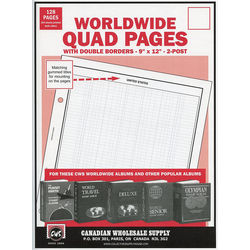 quadruled pages for stamp albums