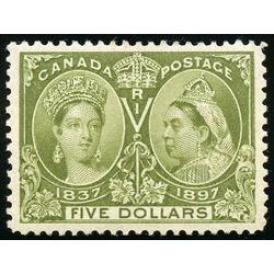 Canada stamp 65 queen victoria jubilee 5 1897 m vf 012