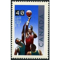 canada stamp 1343 basketball 40 1991