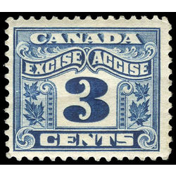 Canada revenue stamp fx38 two leaf excise tax 3 1915