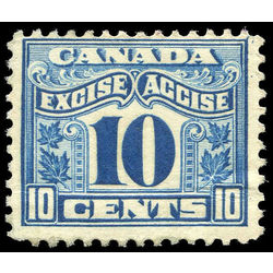 Canada revenue stamp fx42 two leaf excise tax 10 1915
