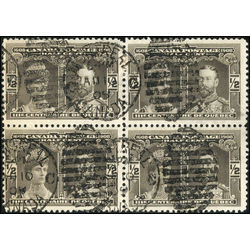 canada stamp 96 prince princess of wales 1908 block of four u f