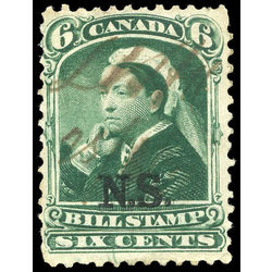 canada revenue stamp nsb7 federal bill stamps 6 1868