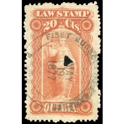 canada revenue stamp ql16 law stamps 20 1871