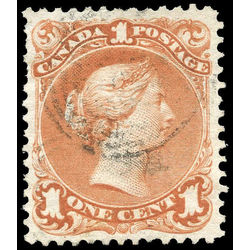Canada stamp 22 queen victoria 1 1868 u vf 003