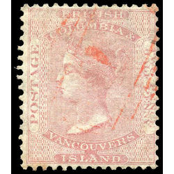 British columbia vancouver island stamp 2a queen victoria 2 d 1860 u vf 004