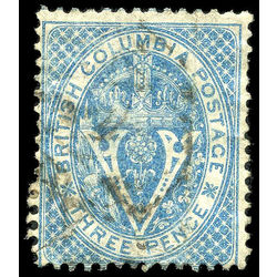 British columbia vancouver island stamp 7a seal of british columbia 3d 1865 u f 005