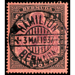 bermuda stamp 54 king george v 1 1910 U VF 001