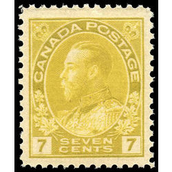 Canada stamp 113 king george v 7 1912 m vfnh 002