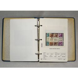 switzerland stock book with many interesting stamps on stock sheets and cards