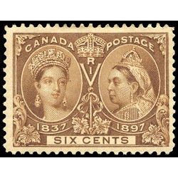 Canada stamp 55 queen victoria jubilee 6 1897 m vf 006