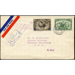 Canada stamp c air mail c4 c2 surcharged mercury with scroll in hand 6 1932 fdc 003