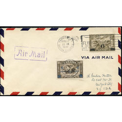 Canada stamp c air mail c4 c2 surcharged mercury with scroll in hand 6 1932 fdc 004