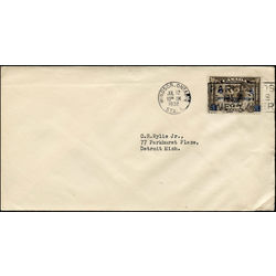canada stamp c air mail c4 c2 surcharged mercury with scroll in hand 6 1932 FDC 005