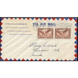 Canada stamp c air mail c5 daedalus in flight 6 1935 fdc 001
