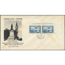 Canada stamp c air mail c6 monoplane over mackenzie river nwt 6 1938 fdc 001