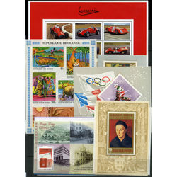 68 different complete sets and souvenir sheets