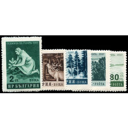 bulgaria stamp 977 981 woman planting tree and forests 1957