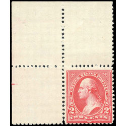 us stamp postage issues 252a washington 2 1895 m nh 002