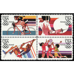 us stamp c air mail c112a summer olympics 1984 1983
